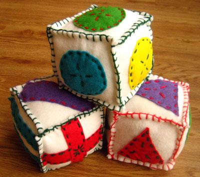 making soft blocks finished