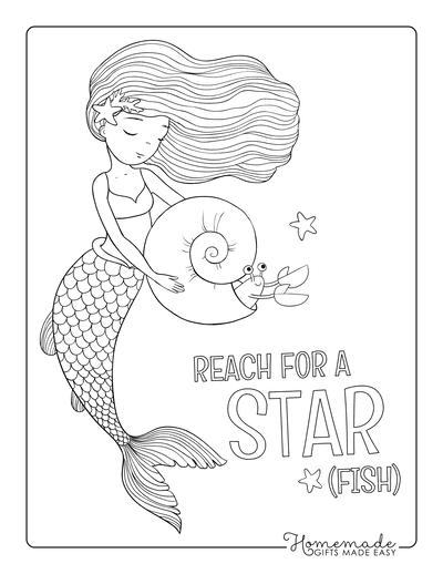 Mermaid Coloring Pages Hermit Crab