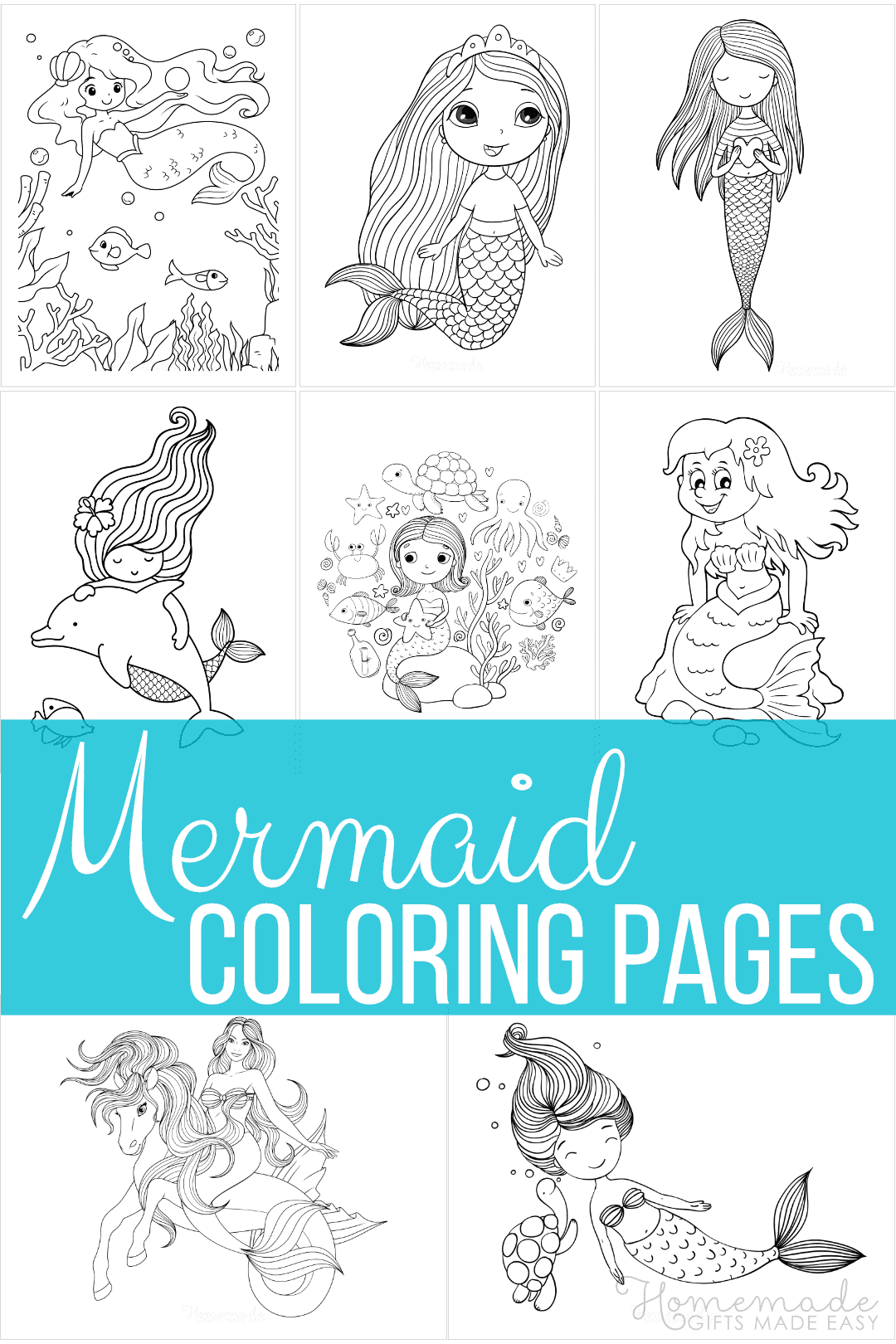 free printable mermaid coloring pages
