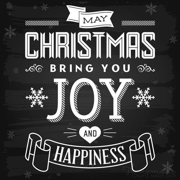 merry christmas images blackboard joy happiness 600x600