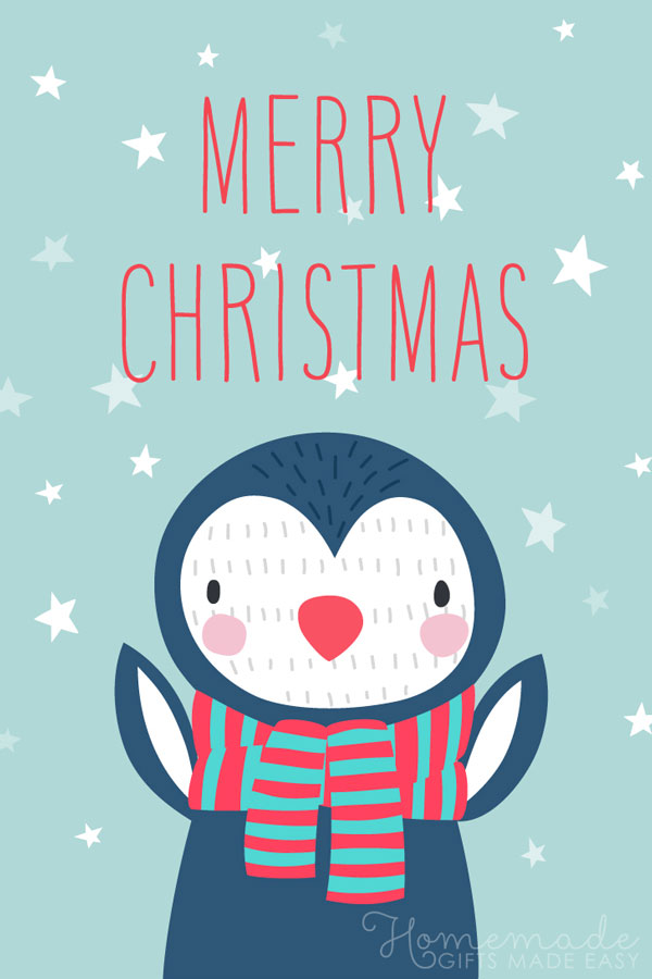 merry christmas images penguin 600x900
