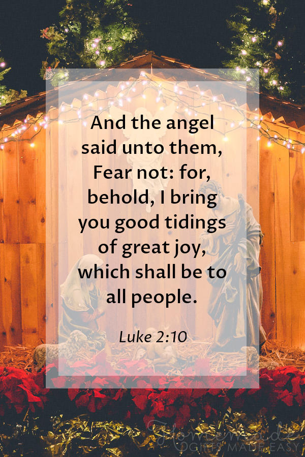 merry christmas images religious luke fear not 600x900