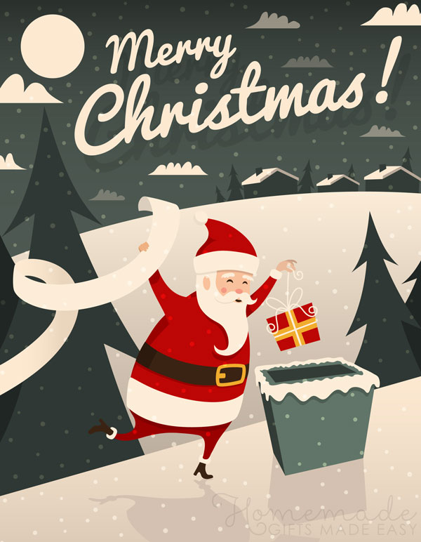 merry christmas images santa present 600x772