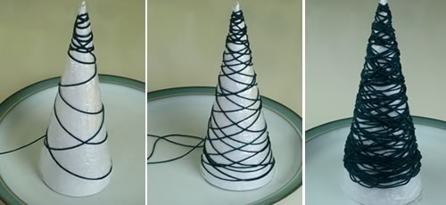 Make miniature christmas tree ornaments from string miniature christmas tree ornaments from string solutioingenieria Images
