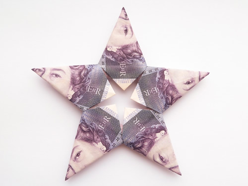 modular origami star british notes