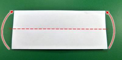 modular money origami star step 1