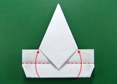 modular money origami star step 6b