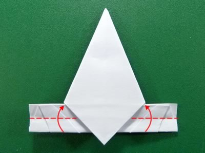 modular money origami star step 6c