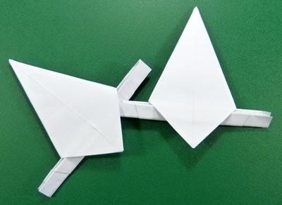 modular money origami star step 7b