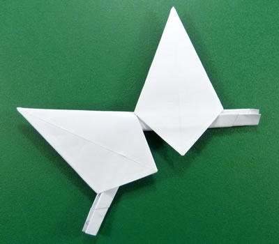 modular-money origami star step 7c