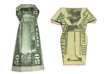 money origami dress other designs