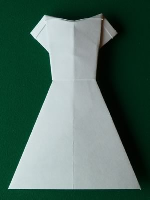 money origami dress finished blank paper