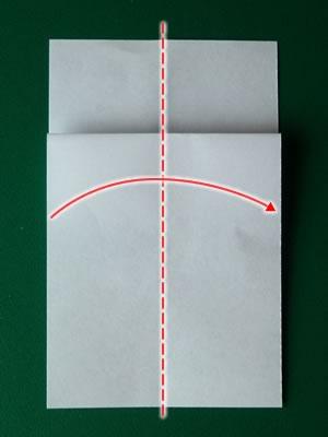money origami dress step 3