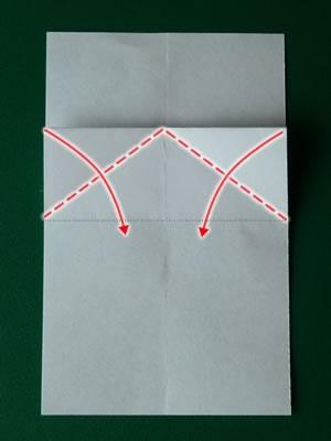 money origami dress step 3b