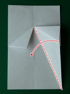 money origami dress step 4