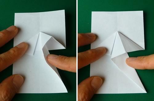 money origami dress step 4b
