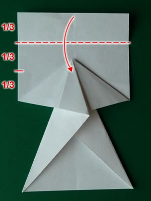 money origami dress step 5