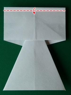 money origami dress step 6