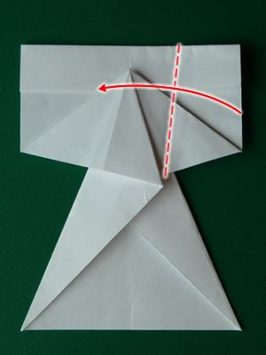 money origami dress step 7