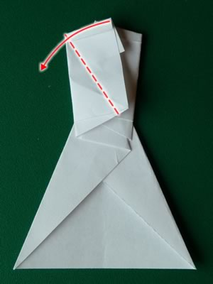 money origami dress step 7b