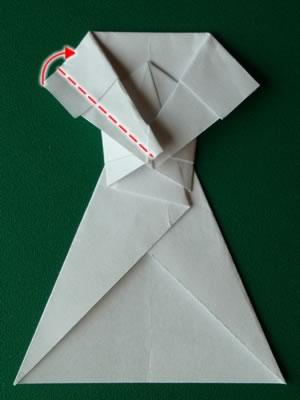 money origami dress step 7c
