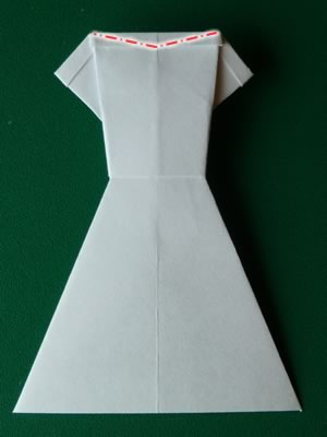 money origami dress step 8