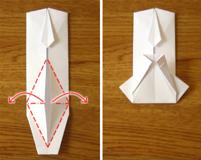 money origami shirt and tie step 13