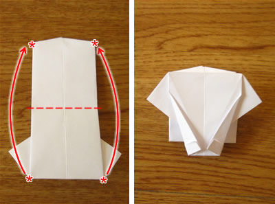money origami shirt and tie step 14