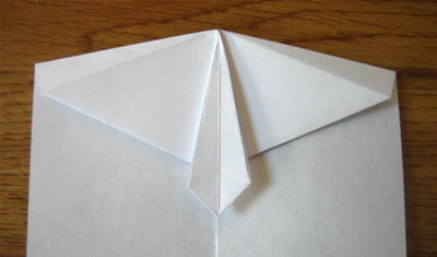 money origami shirt and tie step 7