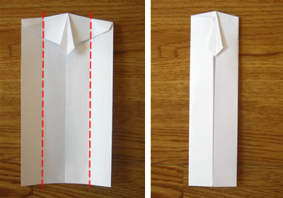 money origami shirt and tie step 8