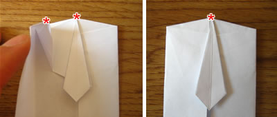 money origami shirt and tie step 9b