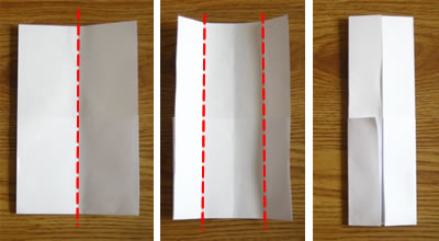 money origami shirt step 2
