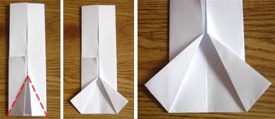 money origami shirt step 3
