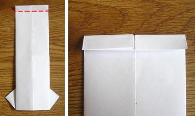 money origami shirt step 4