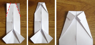 money origami shirt step 5