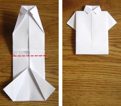 money origami shirt step 6