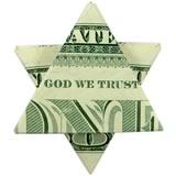 money origami star single bill