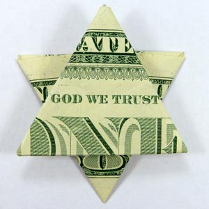 money origami star