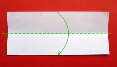 money origami star step 1