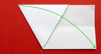 money origami star step 4