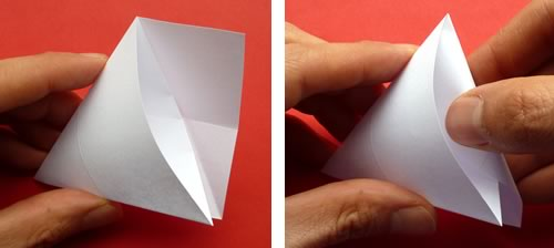 money origami star step 5