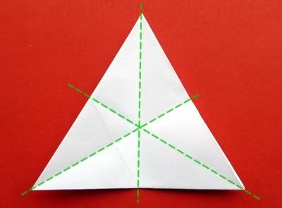 money origami star step 6