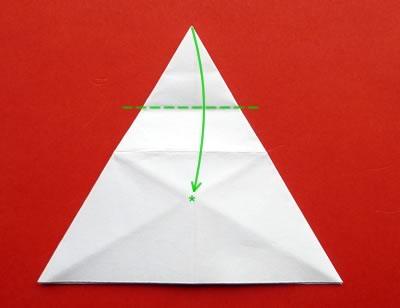 money origami star step 7