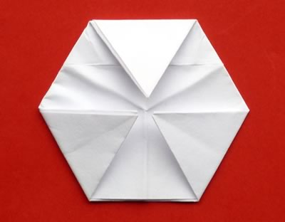 money origami star step 7b