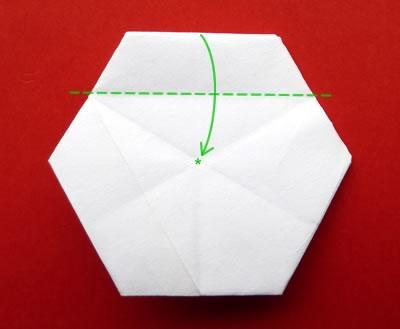 money origami star step 8