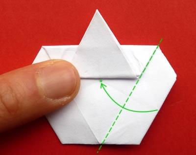 money origami star step 8b