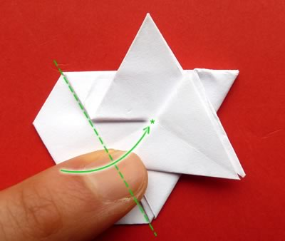 money origami star step 8c