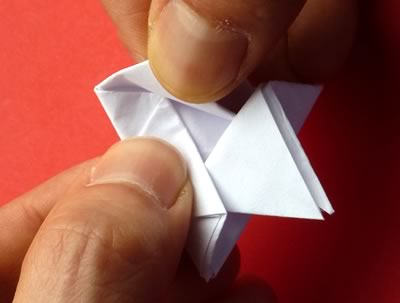 money origami star step 8d