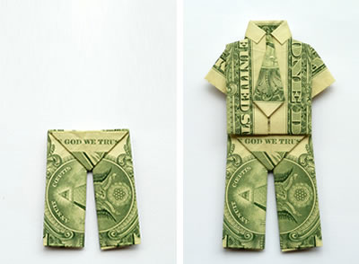 25 Money Origami Tutorials | 3D Dollar Bill Crafts | 294x400