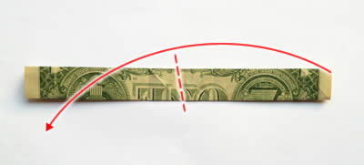 simple money origami trouser step 4